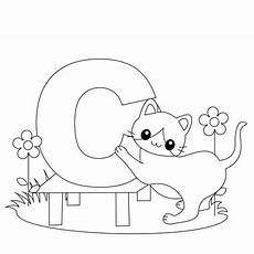 colouring pages for adults of animals letters 17309 animal alphabet letter c is for cat here s a simple dibujos abecedario manualidades