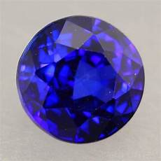 1 25ct natural royal blue sapphire round cut