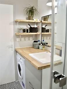 salle de bain bois et blanc maison salle