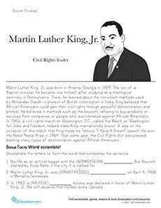 martin luther king jr historical heroes worksheet