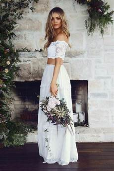 Brautkleid Boho Chic - brautkleider im boho stil der hei 223 este trend f 252 r ihre