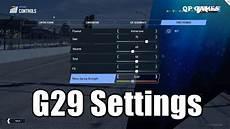 Project Cars 2 Logitech G29 Settings Feedback Guide