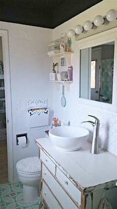 half bath makeover reveal little vintage cottage