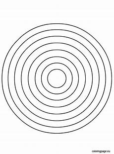 Simple Circle Coloring Pages Circles Coloring Page