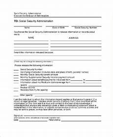 social security administration form 8 exles in pdf word