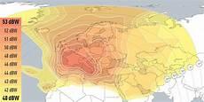 Eutelsat Bird 13c 13d 13e 13 176 East Coverage Maps