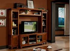 4 pc dita light oak finish wood slim profile entertainment center wall unit with tv stand and