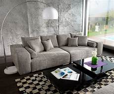 big sofa mit hocker big sofa marbeya 285x115 cm hellgrau mit hocker couch