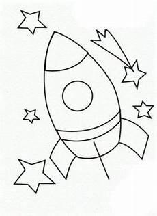 Malvorlagen Rakete Count Erg Simpele Raket Kleurplaat Gratis Kleurplaten Printen