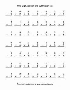 single digit subtraction math worksheet combined addition and subtraction worksheet single