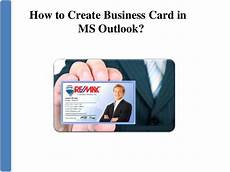 How To Make A Business Create Business Card In Microsoft Outlook