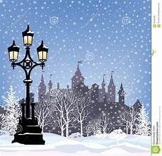 winter holiday snow city background merry christmas landscape stock illustration illustration