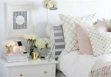 White Pink And Gold Bedroom Ideas by White With Pink Grey And Gold Accents Gold Bedroom