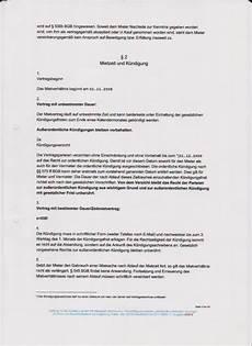 ordentliche kündigung des mieters ordentliche k 252 ndigung mietvertrag k 252 ndigung vorlage