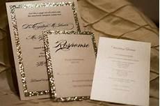 gold silver glitter wedding invitation ensemble 2209494