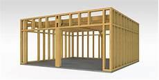 Garage Construire Garage Bois Toit Plat