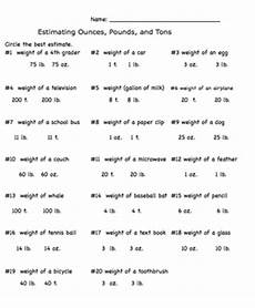 measurement estimation ounces pounds and tons worksheet by smartboard smarty