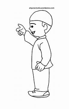 Mewarnai Gambar Kartun Anak Muslim 23 Alqur Anmulia