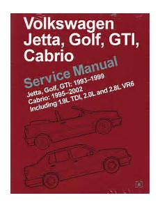 car repair manuals online free 1993 volkswagen jetta user handbook 1995 2002 vw cabrio 1993 1999 jetta golf gti original factory repair manual