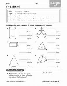 solid shapes worksheets for grade 1 1267 solid figures homework 17 1 worksheet for 4th 5th grade lesson planet