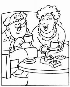 Gratis Malvorlagen Oma Und Opa раскраска пожилые люди раскраски человек