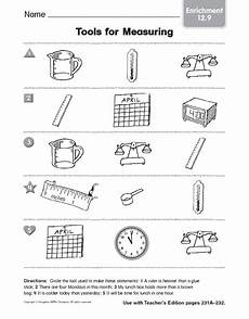 tools for measuring enrichment worksheet for 3rd 4th grade lesson planet