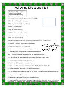 teaching directions ks1 11717 free following directions test a tricky following directions lesson teaching resources