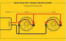 2 ohm subwoofer parallel wiring diagram how do you hook up 2 subs to a monoblock how do i best connect up my rel subwoofer to my
