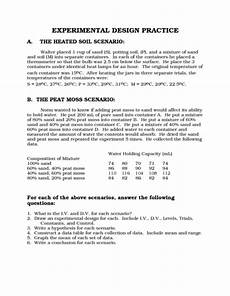 experimental design practice worksheet for 7th 10th grade lesson planet