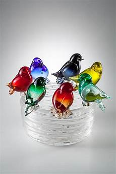 birds collection murano glass sculptures from venice