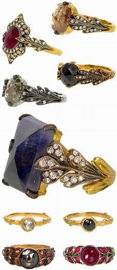 colored stone alternative wedding rings by cathy waterman junebug weddings