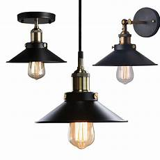 retro vintage industrial metal ceiling pendant light wall l cafe pub new ebay