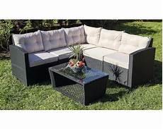 Lounge Set Polyrattan - loungeset athen polyrattan 5 sitzer 6 teilig schwarz bei