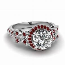 white gold white diamond engagement wedding ring ruby in pave fascinating diamonds