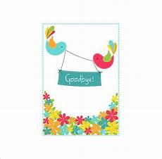 farewell card template ai 14 farewell card templates psd ai free premium