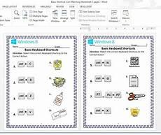 basic keyboard shortcuts matching worksheet microsoft word grade school