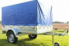 pkw anhänger plane stema pkw anh 228 nger 750 kg spriegel plane hochplane blau