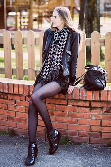 Beautiful With Legs Sitting In The Park Stock