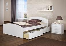 Bett Weiß 200x200 - doppelbett 3 bettkasten 200x200 seniorenbett massivholz