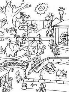 wimmelbild zoo wimmelbilder ausmalbilder