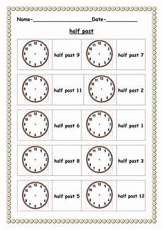 half past worksheet teaching resources
