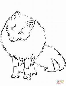 Arctic Fox Coloring Sheet Arctic Fox Coloring Page Az Pages Sketch Coloring Page