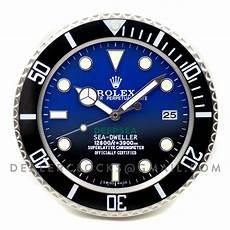 rolex sea dweller deepsea d blue wanduhr