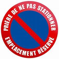 Disque De Signalisation D Interdiction De Stationner