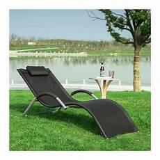 transat de jardin chaise longue bain de soleil noir