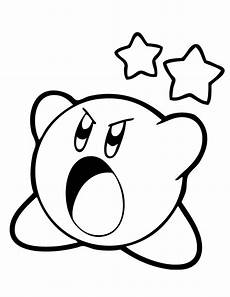 free printable kirby coloring pages for