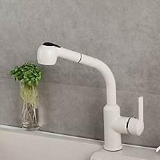 aquatouch aqua touch white kitchen faucet with pullout