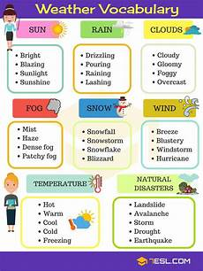 weather words worksheets 14703 weather vocabulary useful weather words terms weather vocabulary