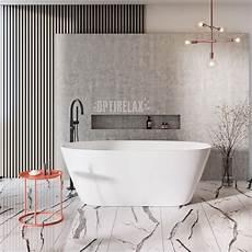 freistehende badewanne an die wand stellen freistehende badewannen aus mineralguss optirelax 174