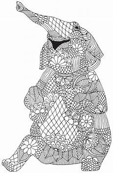 happy elephant from quot awesome animals quot abstract doodle zentangle coloring pages colouring adult